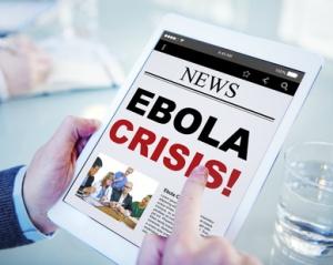 Digital Online News Headline Ebola Crisis Concepts